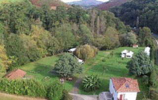 Vue aérienne nord-ouest du camping Amestoya de Bidarray