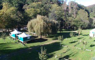 Tentes famille et emplacements simple camping Amestoya à Bidarray