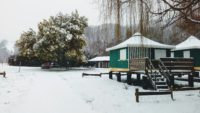 camping Amestoya à Bidarray sous la neige