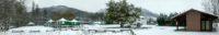 Camping Amestoya sous 10 cm de neige à Bidarray