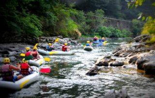 Durant la descente en canoë gonflable de la Nive vous profiterez de l'alternance des planiols et des rapides pour apprécier l'environnement de la vallée de la Nive